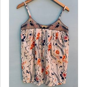 Anthropologie Top - Lilka Pleated Floral Cami